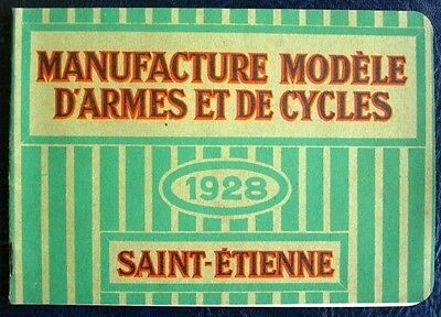 CYCLES MIMOSA CATALOGUE 1928 + SEWING MACHINES FRENCH SAINT ETIENNE