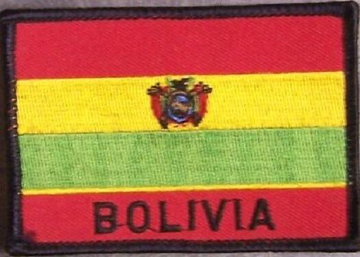 Embroidered International Patch National Flag of Bolivia NEW flag