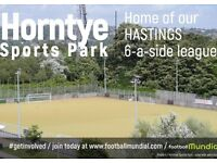 Hastings 6 a side league - places available now!