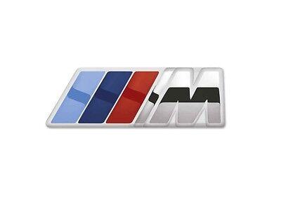 BMW Genuine M Logo Emblem Coloured Strips Pin Spring Lock Silver 80282410915