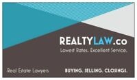 Real Estate Lawyers - Competitive Rates - Excellent Service!
