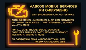 MOBILE AUTO ELECTRICIAN MECHANIC AIR CON REGAS MARINE 24/7 SERVICE Newcastle Newcastle Area Preview