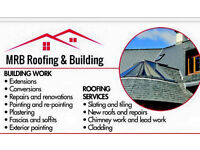 Re-roofs flatroofs slate or tiled roofing.