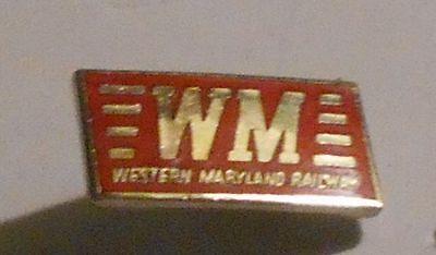 Western Maryland Railroad Hat Pin Train Railway Lapel RR