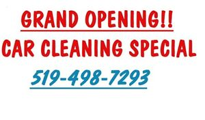 CAR CLEANING GRAND OPENING SPECIAL $65$ FREE SHAMPOO!!!