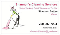 Shannon's Cleaning Services
