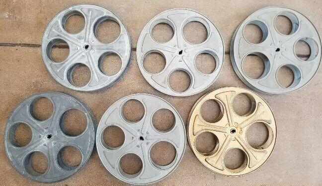 """1 Vintage 35mm Film Reel 10"""" Movie Projector Steel Reels With 5ft Free Film"""
