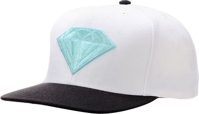 Diamond Supply Co  White Black Teal Snapback Hat Cap 100  Authetic Msrp  40  New
