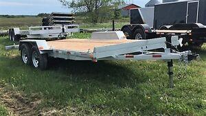 Remorque 80x16 NEUVE Laroche acier galvanisé 2x3500 lbs rampes