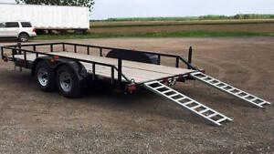 Remorque Plateforme NEUVE Laroche 2x5200 lbs 80x16