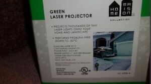 quick christmas light up and put away - green laser projector -