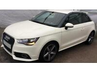WHITE AUDI A1 1.6 2.0 TDI SPORT S LINE BLACK EDITION FROM £45 PER MONTH