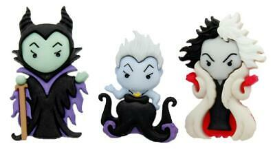 A DE VIL and MALEFICENT Craft Buttons Sleeping Beauty  (Disney Cruella)