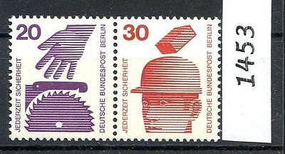 BERLIN MI NR 404 406 W48 ZUS DRUCK 20 30 PF UNFALL POSTFRISCH 1972 1453