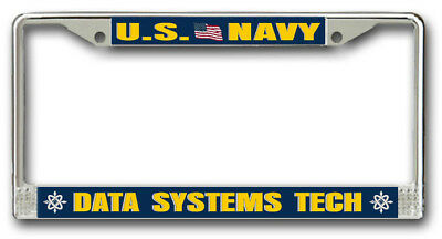 Navy Data Systems Tech Ds Rate License Frame American Made   Veteran Approved