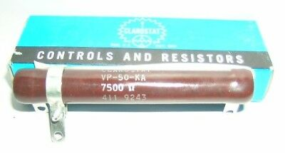 Clarostat Adjustable Resistor Vp50ka7500 50w 7500 Ohms