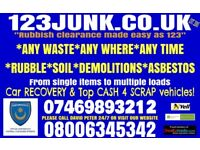 Rubbish clearance, demolition, asbestos roof sheets