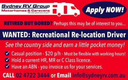 DRIVERS WANTED!!! Retired but bored? This may interest you...