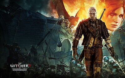 """35 The Witcher - 1 2 3 Video Game Hot Art 38""""x24"""" Poster"""