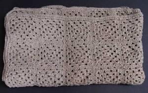 New beige 52 x 60-inch hand-crocheted afghan / blanket / throw