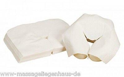 EINWEGAUFLAGEN für Massageliege / Massagebank /  bzw.Kopfstütze 100 Stk.