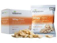 ISAGENIX New Whey Thins™ Gluten Free White Cheddar Box 250g (10 packets x 25g)