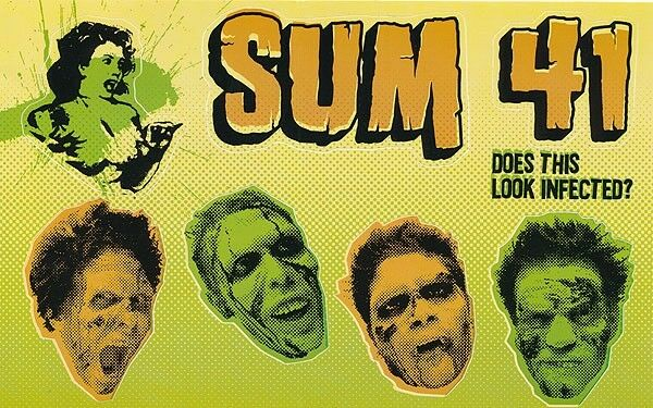 Sum 41 Does This Look Infected? RARE promo sticker sheet 2002