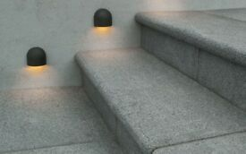 14 x Black Granite Bullnose Step Treads (Matching Paving Available)