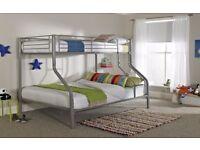 Triple Bunk Bed (silver)