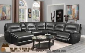Contemporary styled  sectional leather recliner (MA839)