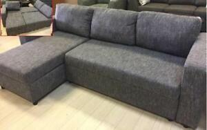 ~~~BLOW OUT SALE*brand new Modern fabric sectional sofa bed w/ storage