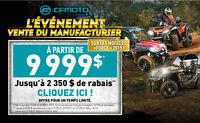 CF Moto LIQUIDATION, l'ÉVÉNEMENT DU MANUFACTURIER