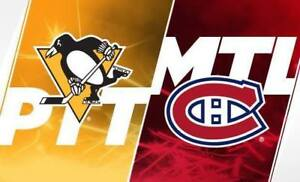 CANADIENS VS PITTSBURGH PRESTIGE-ROUGE-BLANC-GRIS SAMEDI LE 2 MA