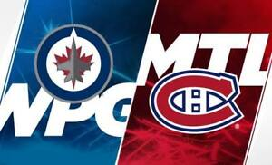 Winnipeg Jets -vs- Canadiens__2x Gris 325-D__75$/ch !!