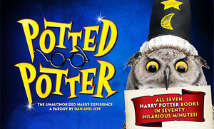 Two tickets to Potted Potter on Oct 27, 2016, Broadway Theatre