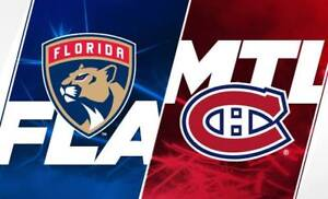 Billets Gris / Gray tickets Canadiens vs Panthers 19 septembre