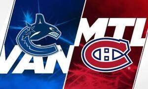 Canadiens vs Canucks Jan 3