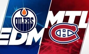Week-end famille 2 billets Blanc Central AA Canadiens vs Oilers