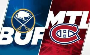 CANADIENS VS BUFFALO ROUGE-BLANC-GRIS SAMEDI LE 23 MARS.