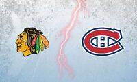 2 Tickets for Chicago Blackhawks vs Montreal Canadiens 14 Jan