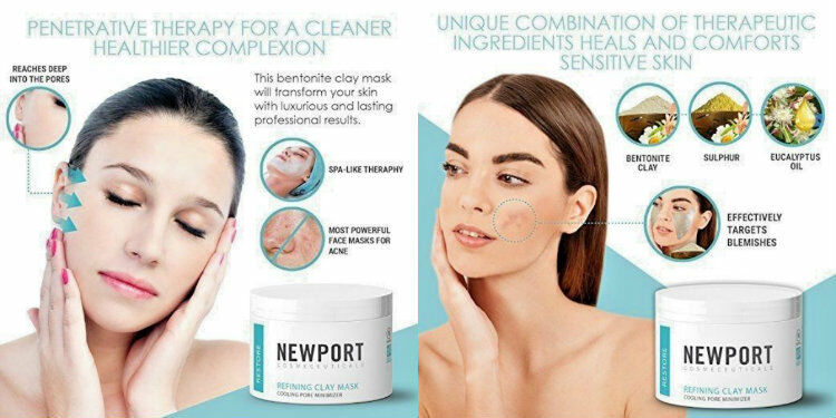 Clay Mask Anti Aging Pore Minimizer Blackhead Remover Bentonite Clay Stops Acne Ebay