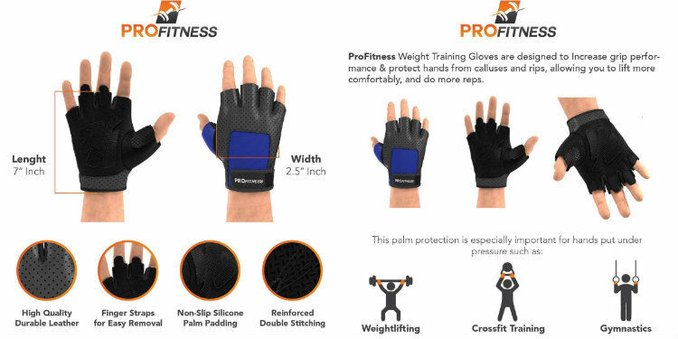 Workout Gloves Weight Lifting WOD Gym Crossfit Training Wraps Exercise Fitness
