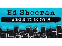 2 x Ed Sheeran Standing Tickets Glasgow Hampden Sunday 3rd of June 2018
