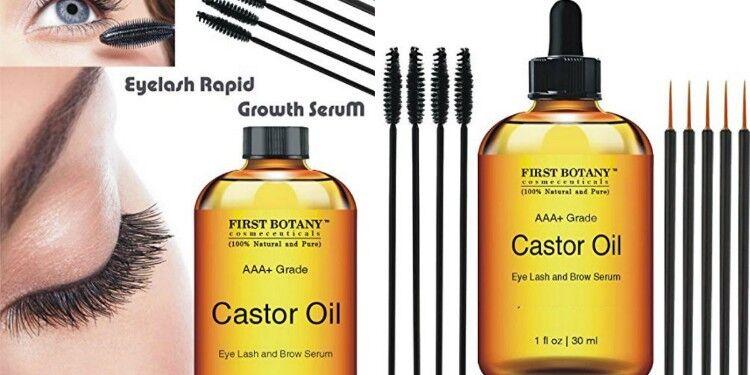 b5f8528df29 Details about ORGANIC Castor Oil Hexane Free Eyelash Hair Eyebrows Hair  Growth Applicator KIT