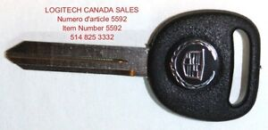 New Replacement Key Blanks With Cadillac Logo B102 Uncut Cadilla