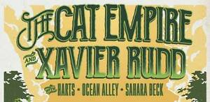 2 Tickets for The Cat Empire & Xavier Rudd - Byron Bay - 04 Feb Dee Why Manly Area Preview