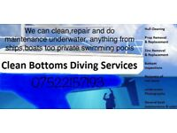 Clean bottoms & salvage services