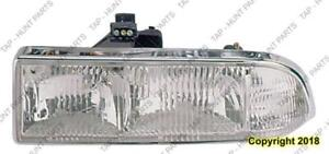 Head Lamp Driver Side Composite Chrome Trim 98-04 High Quality Chevrolet S-10 Pickup 1998-2004