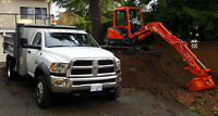 The Lower Mainland's BEST MINI EXCAVATING SERVICE!