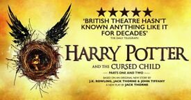 2 x FRONT ROW Stalls Tickets for Harry Potter & the Cursed Child Play (Part 1 & 2) - This Sunday